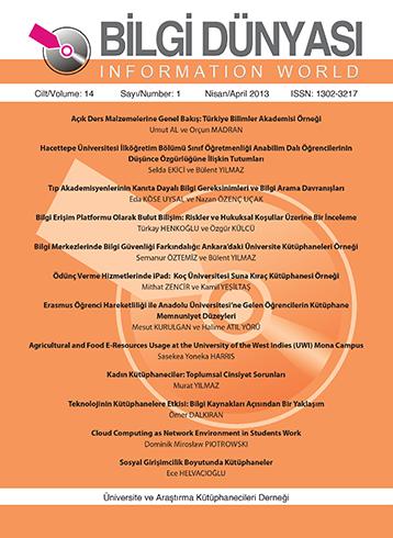 Cilt 14 Sayı 1 (2013)