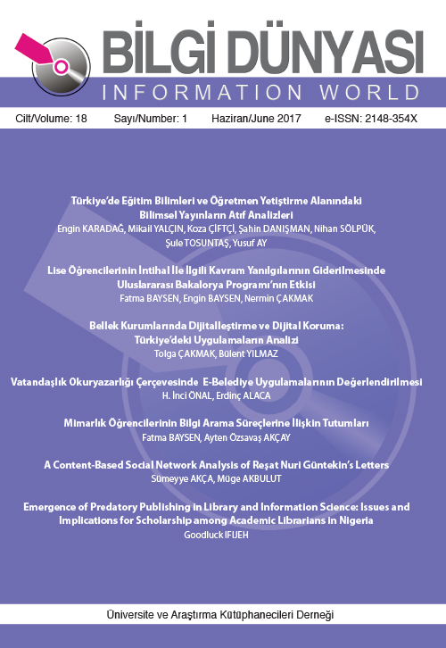 Cilt 18 Sayı 1 (2017)